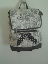 VIVARY BROWN AND WHITE BACKPACK