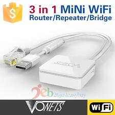 Vonets 300Mbps WiFi Router VAR11N-300 Wireless Networking Router/Bridge/Repeater