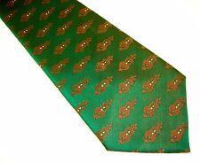 New listing 1970s Wide Green Polyester Tie Mens Vintage Disco Era 70s Textured Necktie