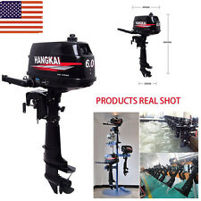 6HP Outboard Motor Tiller Fishing Boat Engine 2-Stroke Water Cooling System USA