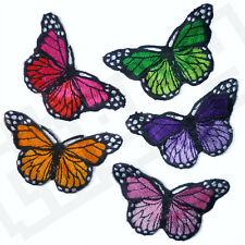SET OF 5 Butterflies Iron Sew On Embroidered Patch Applique Badge Kids Clothing