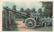 N°54 Poilus French Artillery Long pipe gun World War Germany WWI 30s CHROMO