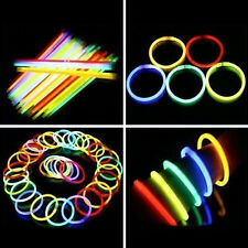 50 Pcs Glow Sticks Bracelets Necklaces Fluorescent Neon Party Novelty