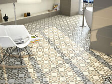 Islington Vintage Victorian Geometric Encaustic Effect Wall Floor Tiles 20 x 20