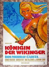KÖNIGIN DER WIKINGER /The Viking Queen * A1-FILMPOSTER - KLAUS DILL HAMMER 1967