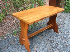 solid yew rustic kitchen table