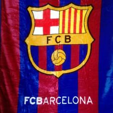 FC Barcelona La Liga Plush Throw Blanket Queen Size 79x94
