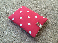 Kindle Paperwhite Padded Case Handmade with Cath Kidston Red Spot Fabric