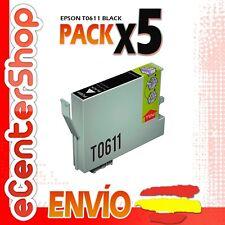 5 Cartuchos de Tinta Negra T0611 NON-OEM Epson Stylus D88