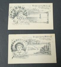 Lot of 2 NEW HOME SEWING MACHINE Co Victorian Trade Cards