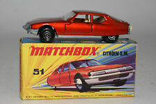 MATCHBOX SUPERFAST #51 CITROEN SM, BRONZE RED, CREAM INT., UNPAINTED BASE, LOT B