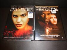 HELL'S KITCHEN & THE BONE COLLECTOR-2 movies-ANGELINA JOLIE, DENZEL WASHINGTON