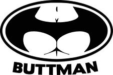 Buttman Batman Logo Bum Vinyl Decal Sticker Car Van Bike Funny Window Bumper Jdm