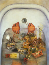 """What the Water Gave Me  by Frida Kahlo  14"""" Canvas Print Repro"""
