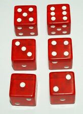 "6-Red-Dice~Great for All Kinds of Games~3/4"" (19mm)~Buy-2-Deals-Get-3rd-FREE"