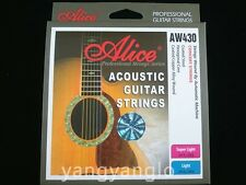 Alice AW430-SL Acoustic Guitar Strings Hexagonal Core Plated Steel Strings