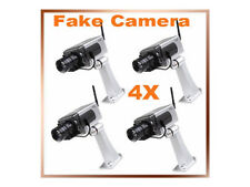 4 x DUMMY SECURITY CAMERAS: Pans & Flashes - Realistic Fake Security Cameras
