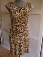 MINT Womens Small Imported Essex Dress Animal Print Form Fitting Stretchy Club