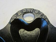 Antique Reids Cast Iron Muffin Pan Hearts Stars Fluted Dec.1870 145 years old