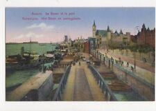 Anvers Le Steen & Port Belgium Vintage Postcard 327a
