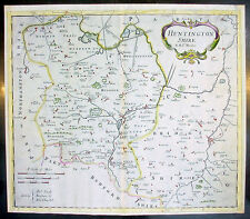 1695 Morden Antique Map English County of Huntingdon
