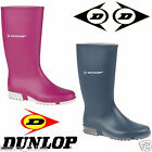 WOMENS LADIES DUNLOP WELLINGTONS BOOTS WELLIES RUBBER SHOES SIZE 3-8 UK SNOW NEW