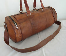 "21"" Handmade Real Leather Duffle Bag Sports Gym Bag Hold-all AirCabin Luggage"