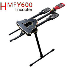 F10811 HMF Y600 Tricopter 3 Axis Copter Frame Kit w/ High Landing Gear & Gimbal