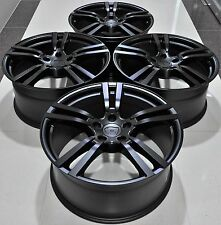 "22"" PORSCHE TURBO 2 STYLE MATT BLACK WHEELS RIMS FITS CAYENNE Q7 TOUAREG 5398 MB"