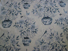 "ZOFFANY CURTAIN FABRIC DESIGN ""Romey's Garden"" 13.5 METRES PORCELAIN 321444"
