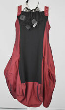 stunning LUUKAA  WINE/BLACK  parachute dress size  XXL/XXXL