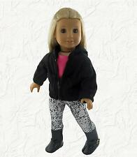 Doll Clothes Hoodie with Leggings Shirt and Boots fits 18 inch American Girl