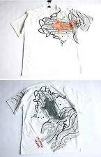 NWT only one! japanese brand wave to carp tatoo mens tee t-shirt japan WHITE