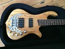 Traben Array Limited 4 Spalted Maple Active Bass Guitar + Case