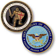 U.S. Department of Defense / Armor of God - DOD Brass Challenge Coin
