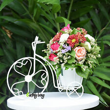 Bicycle Tricycle Wire Iron Flower Arrangement Decorate Idea Planter Vase Stand