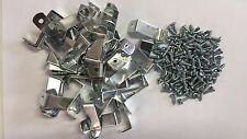 """100 x 1-1/4"""" Picture Frame Offset Clips With Screws for Canvas, Mirrors, etc"""