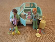 Polly Pocket Mint Green Car Camping Picnic Lot Set w/ Dolls Accessories X77