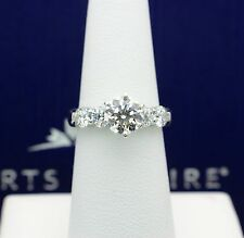 HEARTS ON FIRE DIAMOND ENGAGEMENT RING FIVE STONE ROUNDS 2.21TCW IVS1 18K GOLD