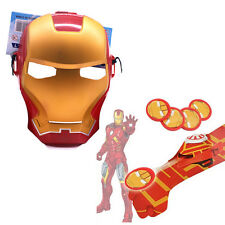 2Pcs Super Hero Launchers Gloves & Mask Accessory Iron-Man Cosplay Party Kids