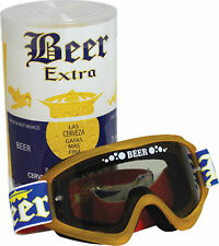 Motocross Enduro Motorcycle BMX DRY BEER GOGGLES Corona Gold Frame Smoke Lens