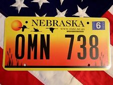 NEBRASKA license licence plate USA NUMBER AMERICAN REGISTRATION