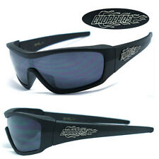 Choppers Mens Motorcycle Sunglasses - Matte Black C40