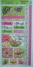 ~SHE IS~ Bo Bunny Cardstock Stickers; Mother, Mom, Friends, Friendship, Girls