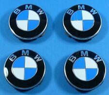 ORIGINAL BMW 5er E34 E39 E60 E61 Felgendeckel Nabendeckel Chromrand SATZ NEU !