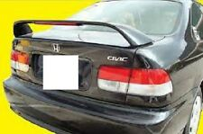FITS HONDA CIVIC 2DR COUPE 1996-2000 SI STYLE BOLT ON SPOILER W/LIGHT UNPAINTED