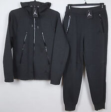 NIKE AIR JORDAN TECH FLEECE SET HOODIE +SWEATPANTS CHARCOAL GREY NWT (3XL / 2XL)