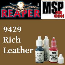 RICH LEATHER 9429 -MSP 15ml 1/2oz paint pot peinture figurine REAPER MINIATURE