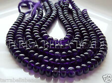 "9"" strand purple AFRICAN AMETHYST smooth gem stone rondelle beads 7.5mm"