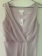 NWT J Crew Evie Long Dress Silk Chiffon Dusty Lavender Sz 6 $350 Wedding ELEGANT